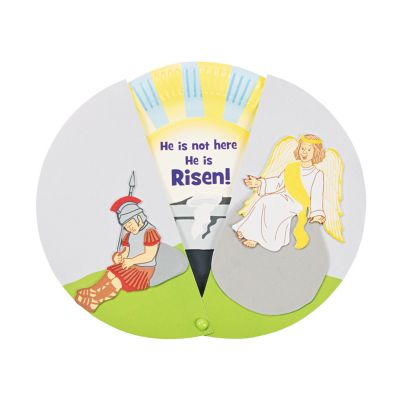 Easter empty tomb paper plate craft