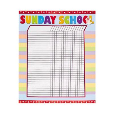 6 Christian attendance charts and stickers
