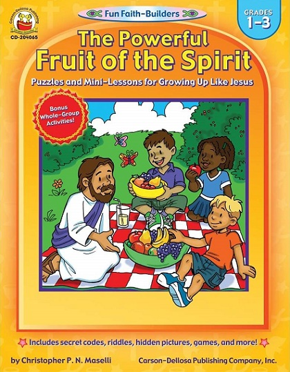 Holy Fruit of Spirit Sunday school activity book