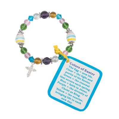 Easter colors religious bracelet craft kit
