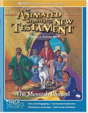 Printable Jesus the Messiah Comes Palm Sunday activity book