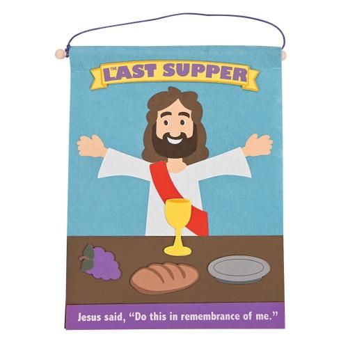 Jesus last supper banner crafts