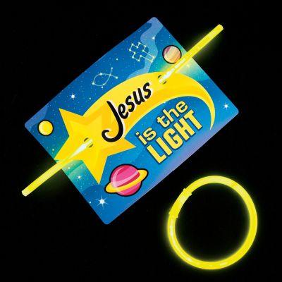 Christian glow bracelet card