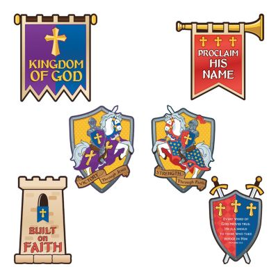 Vacation Bible School Mighty Fortress Kingdom wall decorating kit