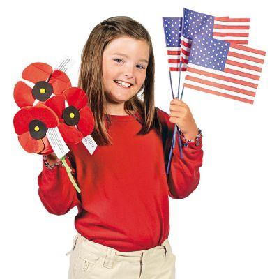 DIY color a USA flag crafts