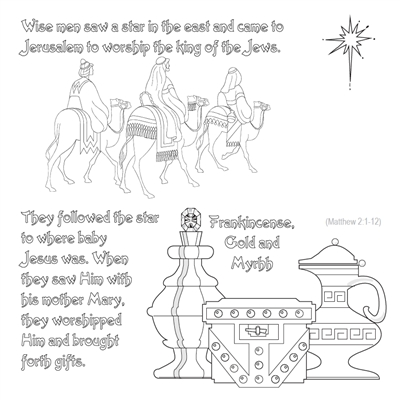 Nativity story color cards