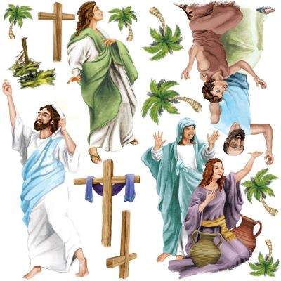 Easter Risen Jesus Christ wall decals