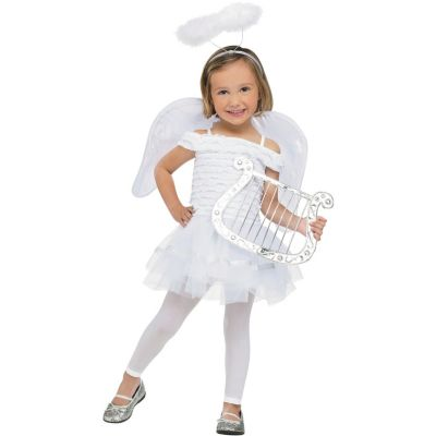 Religious angel costume with wings halo headpiece