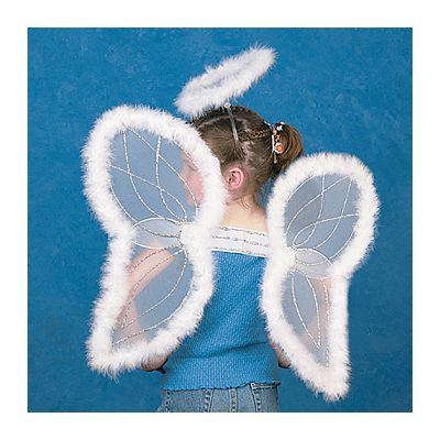 Christmas angel wings halo set kids