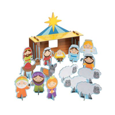 little Nativity Christmas play set gift