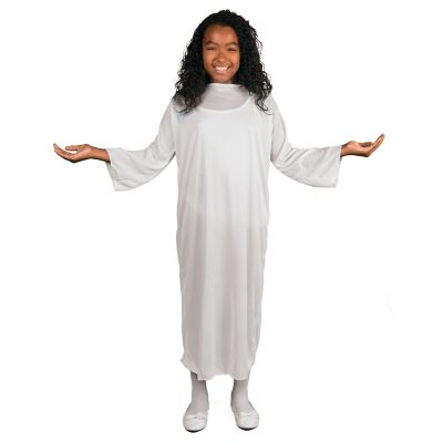 white angel or choir kids costume gown