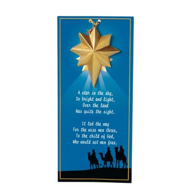 3 Wisemen Christmas star gift ornaments