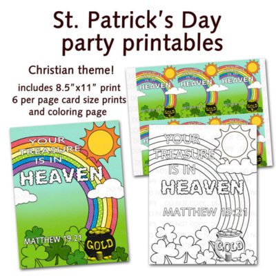 DIY Christian Saint Patricks Day party-supplies