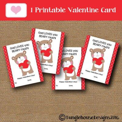 Download God loves you bear Valentines Day cards