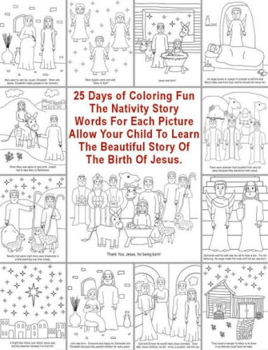 25 Printable Nativity Bible story coloring pages
