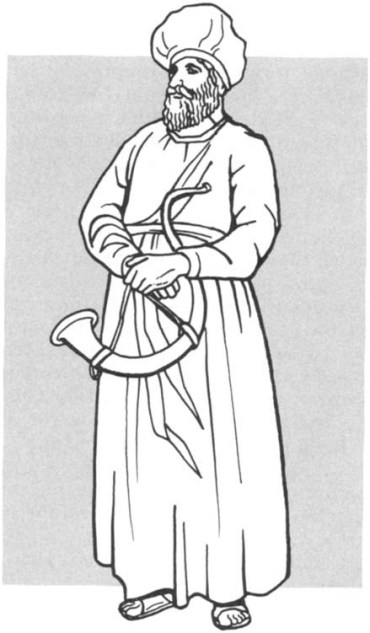 A depiction of an OT priest