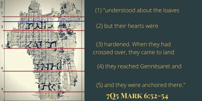 7Q5 Mark 6.52-54