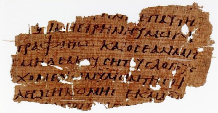 P110-Mat-10_13-14-POxy4494-IV - Matthew 10.13-15 in Papyrus (P110)