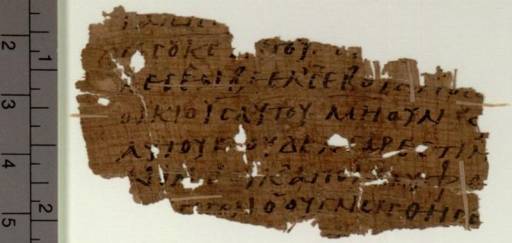 POxy.4494 Papyrus 110 (P110) Verso