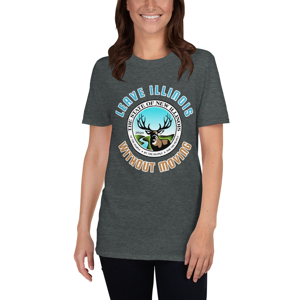 Leave Illinois Without Moving Seal  T-Shirt