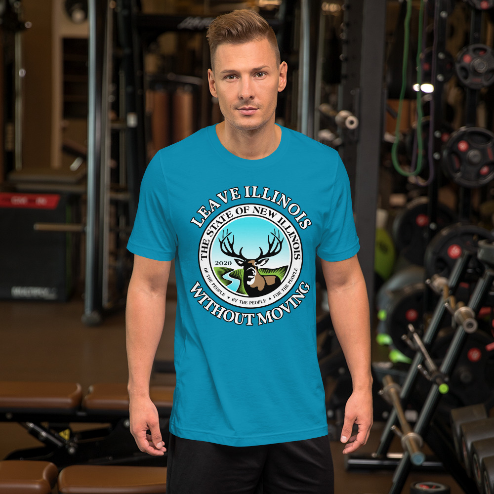 Leave Illinois Short-Sleeve Unisex T-Shirt