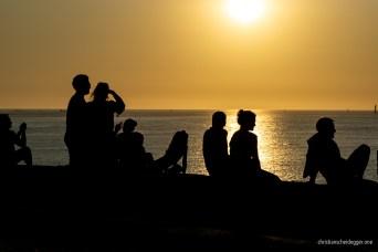 Saint-Malo Sunset Silhouettes