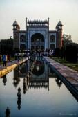 visitors at the Taj Mahal