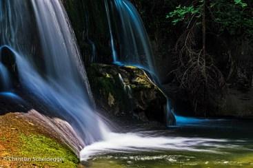 Wasserfall Haselegg im Halbschatten