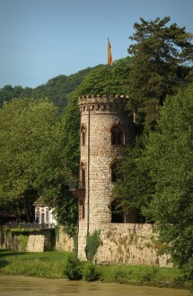 A Bad Saeckingen town wall tower ...