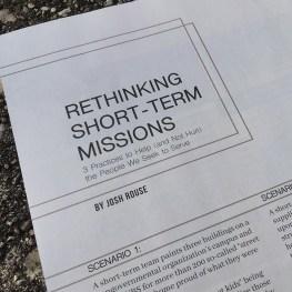 Rethinking Short-Term Missions