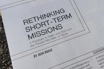 Rethinking Short-Term Missions