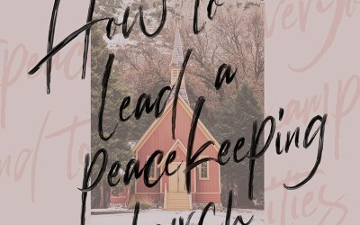 How to Lead a Peacekeeping Church