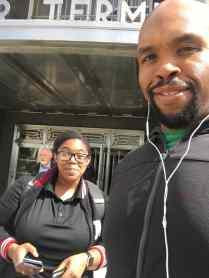 Erica & I landing in NYC!