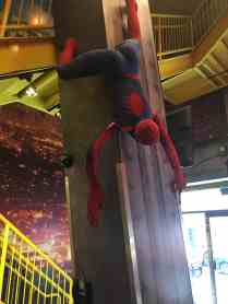 Spiderman chilling at Planet Hollywood