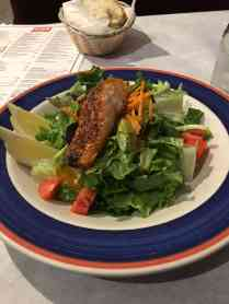 Grilled Salmon Salad. Was very good!