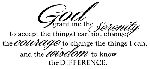 God Grant Serenity Prayer Vinyl Wall Decal Quotes Wall ...
