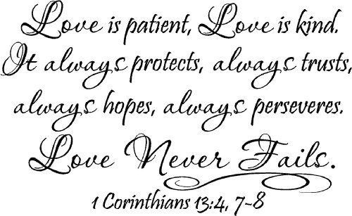 10 of I Corinthians 13 Religious Wristband Love is patient Love is kind ...