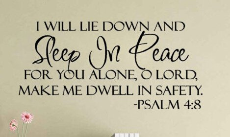 Wowall I Will Lay Down And Sleep In Peace Bible Quotes Saying Words Li