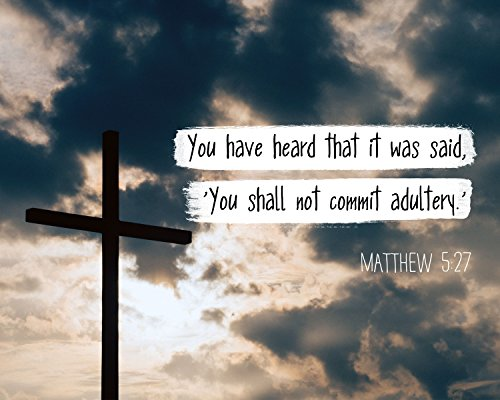 Matteo 5:27 You shall not commit adultery - Christian Poster, Print,