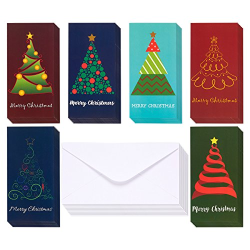 36 Pack Merry Christmas Greeting Cards Xmas Money And Gift Card Hold