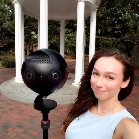 Insta 360 Pro Camera at the UNC Old Well