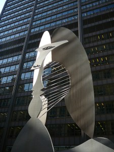 photo of Chicago Picasso sculpture