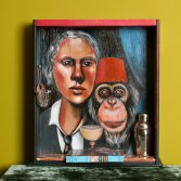 Photo of original painted mixed media work Your Bartender #4 by Christie Mellor