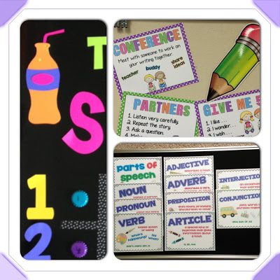 writing posters, parts of speech posters, behavior bulletin board