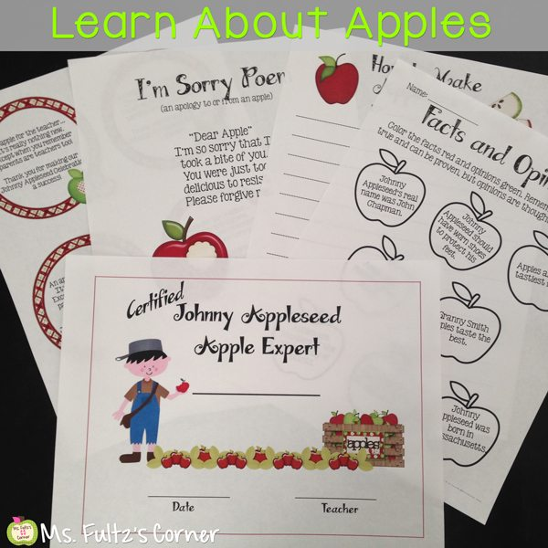 http://www.teacherspayteachers.com/Product/Johnny-Appleseed-and-Apples-for-Big-Kids-322916