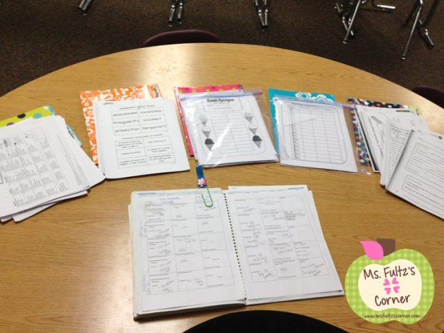 Classroom organization: time saving lesson prep