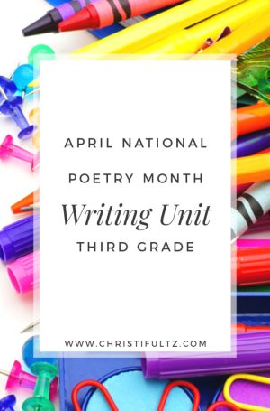 April National Poetry Month Writing Unit for Third Grade