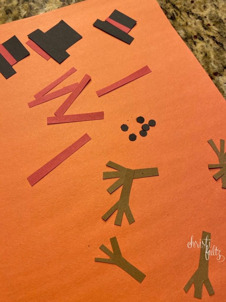 winter snowman footprint crafts for babies, toddlers, and preschoolers; homeschool activity