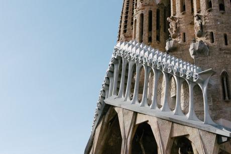 La Sagrada familia in Barcelona. Muss man etwas zu diesem Bauwerk sagen? Imposant ragt es über Barcelona empor.