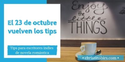 El 23 de octubre vuelven los tips